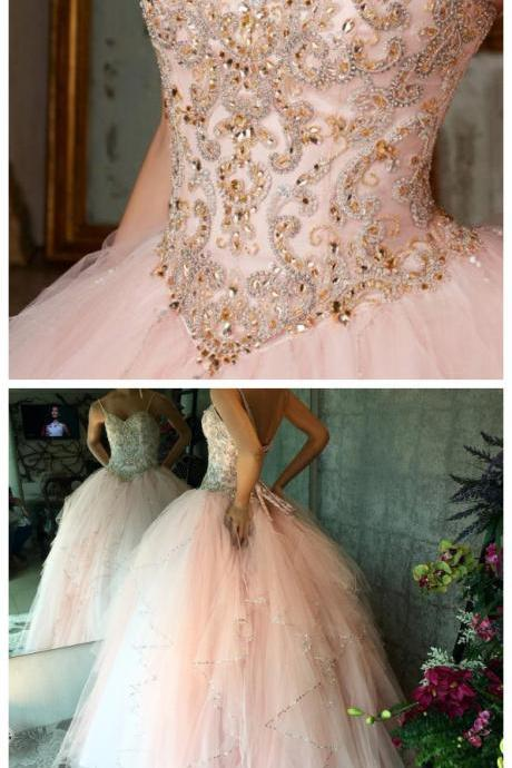 Cheap prom dresses Quinceanera Dresses Vestidos de 15 anos Aqua Stunning Ball Gowns Spaghetti Straps Beaded Sweetheart Sweet 16 Dress for party dress PD20197328