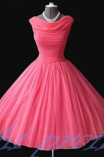 Pink Bridesmaid Dresses,Knee Length Bridesmaid Gown,Ball Gown Bridesmaid Gowns,Fall Bridesmaid Dress,Cheap Bridesmaid Gown,Corset Bridesmaid Dress For Modest Brides Wedding PD20191428