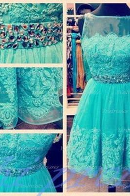 Homecoming Dress,Organza Homecoming Dress,Cute Homecoming Dress,Lace Homecoming Dress,Short Prom Dress,Turquoise Homecoming Gowns,Beaded Sweet 16 Dress PD20191431