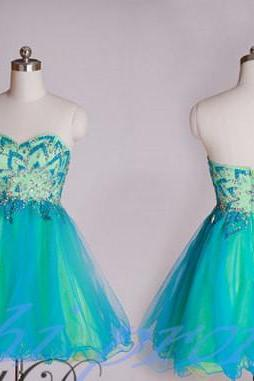 Bud Green Homecoming Dress,Sparkle Homecoming Dresses,2019 Style Homecoming Gowns,New Fashion Prom Gowns,Beading Sweet 16 Dress,Blue Homecoming Dresses,Tulle Cocktail Dress,Short Evening Gowns PD20191435