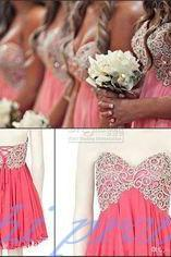 Pink Homecoming Dress,Gorgeous Homecoming Dress,Short Party Dresses,Beaded Prom Gown,Chiffon Homecoming Dresses,Short Prom Dress,Simple Parties Gowns,Sweet 16 Dress,Bridesmaid Gown PD20191438