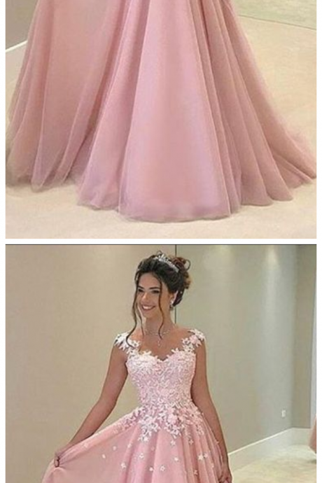 prom dresses,pink prom dresses,lace pink prom party dresses PD20195213